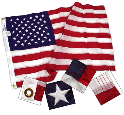 Valley Forge Commercial Grade American Flag 5ft x 9.5ft Sewn Nylon Flag Made USA