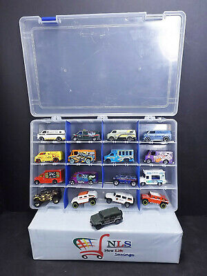 17 Car Lot Hot Wheels & Matchbox With Display Case Ice Cream Van, Hummer