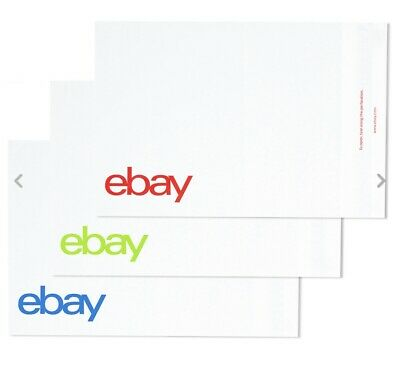 "200 eBay-Branded Polymailer Red Green & Blue 14.5"" x 18.5"" No padding Envelopes"