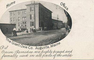 Augusta ME * The Giant Oxie Co. Home Office * Patent Medicine  Oxien c1900