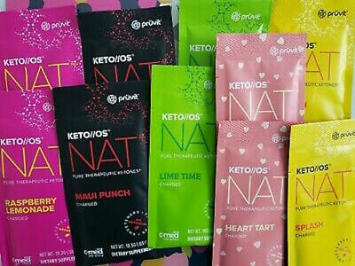Pruvit KETO//OS MAX NAT 5, 10, 20, or 30 day ketone experience, Mix and match