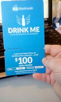 $100 wine gift voucher-from Naked wines for KG Electronics customers