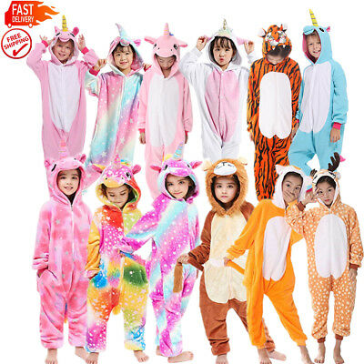 Kids Cosplay Children Unicorn Animal Kigurumi Girls Pajamas Costume Sleepwear
