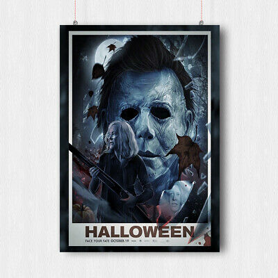 Halloween Horror Movie Poster Print Wall Scary Art Mike Myers -  A4 A3 Size
