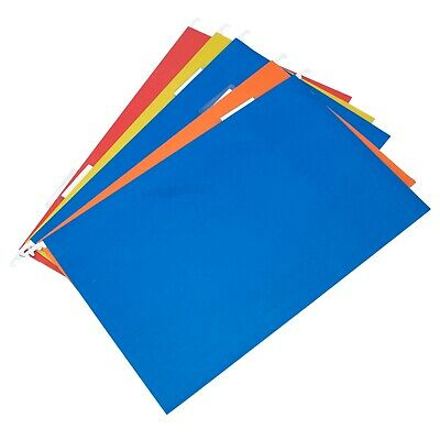 Colour Hanging Suspension Files Tabs Insert Filing Cabinet A4 & Foolscap Folders