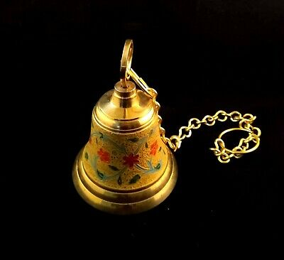 Solid Brass Hanging Bell, Colourful, For Door Bell, Altars, Temple/Pooja Mandir