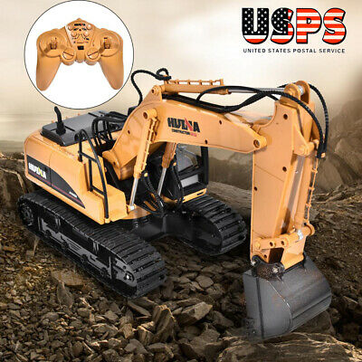 HuiNa Toys 1550 15Channel 2.4G1//12RC Metal Excavator Charging RC Car