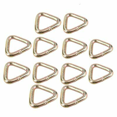 12 PACK Triangular Tie Down Lashing Eye Strap Anchor Ring Point Heavy Duty