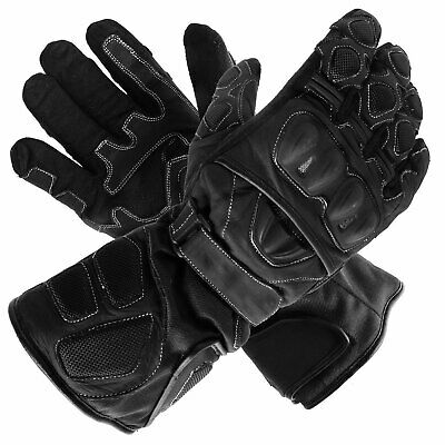 New Polar Force Waterproof Thermal Black Leather Motorcycle Gloves 2XLarge XXL
