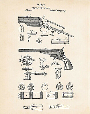 US Patent 45 COLT Automatic Gun BROWNING 1911 #260