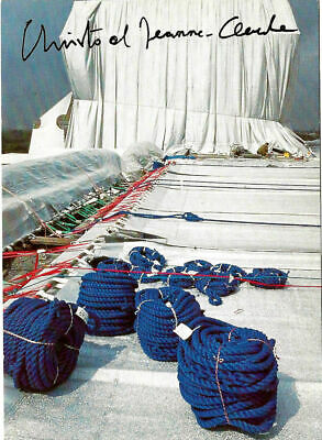 Christo & Jeanne Claude Wrapped Reichstag AK hand signed ;