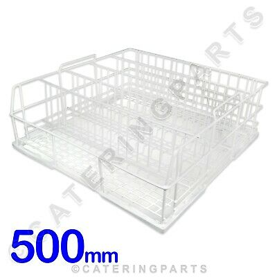 SQUARE GLASS RACK BASKET 5 SECTION WIRE 500mm X 500mm DISHWASHER GLASSWASHER