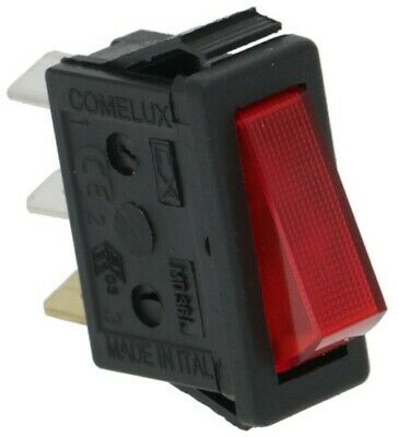 Roller Grill On Off Switch Red Illuminated Rocker Mains Power 16 Amp A07012