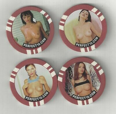 4 Naked Sexy Busty Lady Woman Poker Chips Coins Tokens Perfect 10 Magazine Ddd X