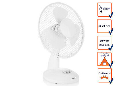 Pratique Tristar Ventilateur de Table Pivotant en Blanc – Bodenlüfter