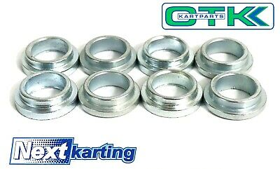 TonyKart / OTK Genuine Rose Joint Top Hat Spacer Pack of 8 - Go Kart Karting