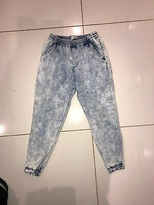 Abercrombie Kids Light Wash Joggers Size M/Aged 12
