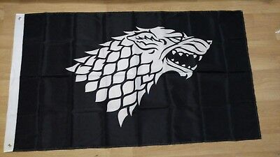 Game of Thrones House Stark Flag. US seller. Free shipping within the US!!!