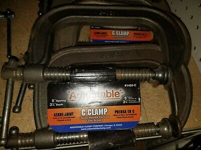 """C-Clamp 5"""" Opening 3-1/4"""" Depth (New) Pack Of 10**********"""