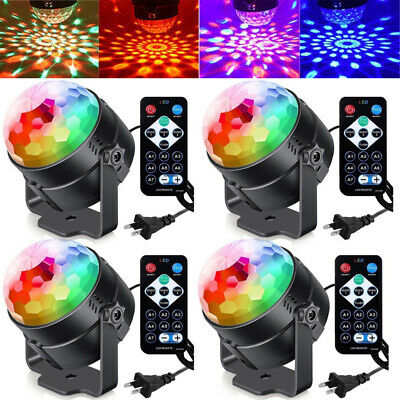4x Disco Ball Lamp Party Lights DJ Sound Activated Strobe LED Light Dance Club