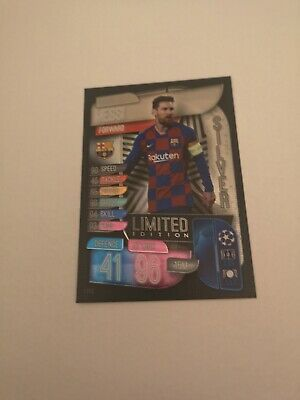 Topps Match Attax 2019/20 Lionel Messi Silver Limited Edition Card