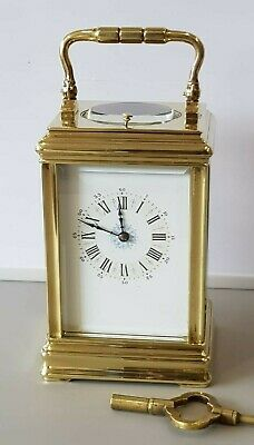 Antique Brass Gorge Case Repeat Strike 4 Glass Carriage Clock