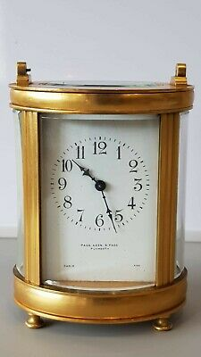Oval Carriage clock For Restoration Page Keen and Page Paris Made