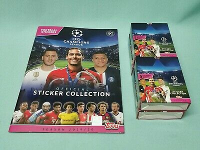 Topps Champions League Sticker 2019/2020 Sammelalbum + 4 x Display 19/20 Album