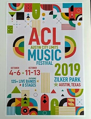 Austin City Limits ACL 2019 Music Festival Poster Texas Concert Poster 13x19