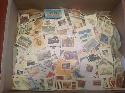 Lot Of (100 Canada Stamps) On Paper-Random Pick-Fast Shipping