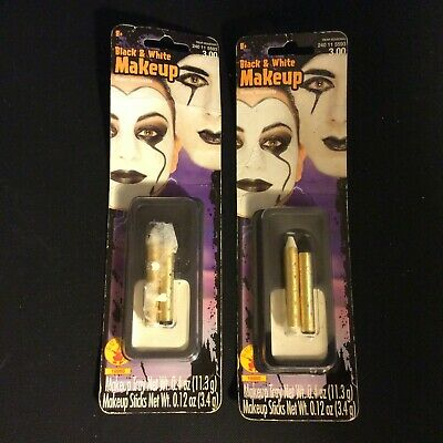 2 Packs of Black and White Stage Makeup Halloween Rubie's Costume