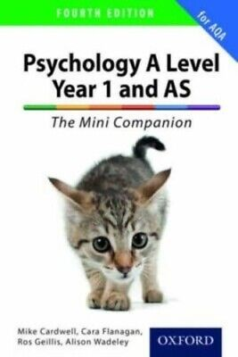 A Level Year 1 and AS Psychology: The Mini Companion for AQA Paperback Book
