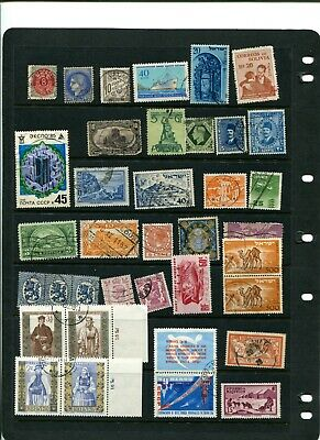 Unique Worldwide Used & Unused 230 Postage Stamp Collection w/Holder 6 Pages