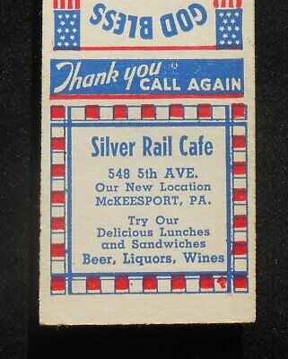 1940s Silver Rail Cafe 548 5th Ave. Our New Location McKeesport PA Allegheny Co