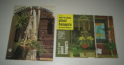 (2) Macrame Guides / Patterns  How To Make & Easy To Make Plant Hangers Books