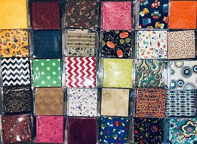 """5"""" Charm Squares - Quilt-Shop Quality Cotton Quilting Fabric - Clearance Sale!!"""