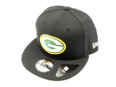 Green Bay Packers New Era 9FIFTY NFL Snap Snapback Hat Cap Team Black 2017