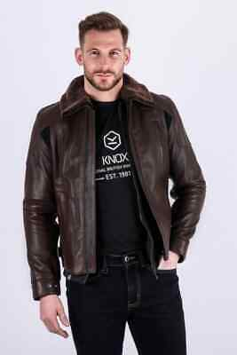 Knox Ford Leather jacket Brown X Large