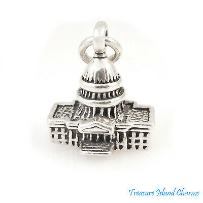 Sterling Silver 3D United States Capital Building Charm