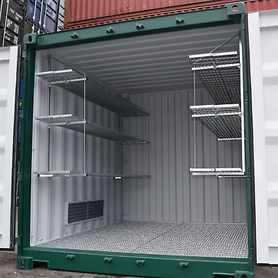 Industrial Shelving System for Shipping Containers