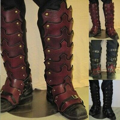Knight's Cosplay Costume Mens Leather Gaiters Armour Stylish Chaps Punk Medieval