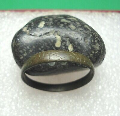 Ancient Roman Bronze Ring Original Authentic Antique Rare R819