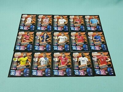 Topps Match Attax Champions League 2019/2020 alle 15 Super Boost Strikers 19/20