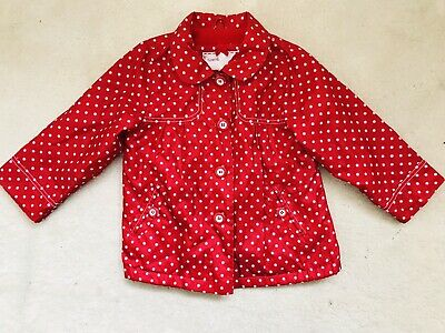 Girls Red Spotted Raincoat Age 2-3 Years From Mothercare