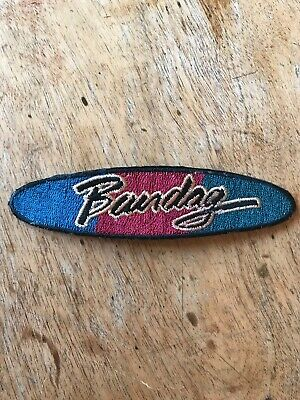 "Vtg Bandag Tires 5"" Embroidered Patch Sew On Mechanic Racing Badge Bridgestone"