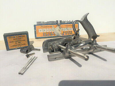 Hobel- Combi Hobel RECORD Nr. 50 - 17 Messer Cutter Clamping Bracket u. Shaving