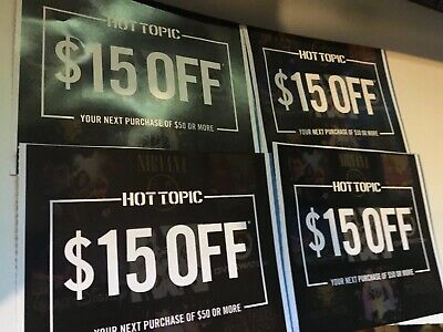 4 Hot Topic Savings Discounts  In Store Online Expire 12/31/19 Coupon Coupons