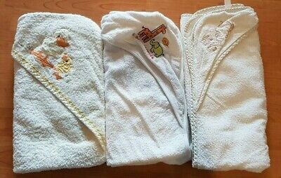 3 x hooded baby towels - great condition