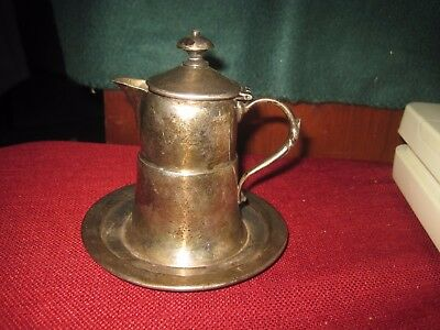 Apollo Bernard Rice's Sons Inc #1065 Silverplate Silver CREAMER Attached SAUCER