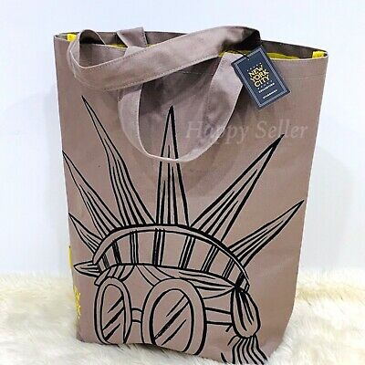 STARBUCKS Tote Bag NYC Collection New York City Statue Liberty Canvas RARE! NEW